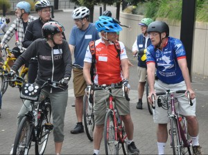 US Congressman, Earl Blumenauer, kicks off the 11th annual Policymaker Ride.