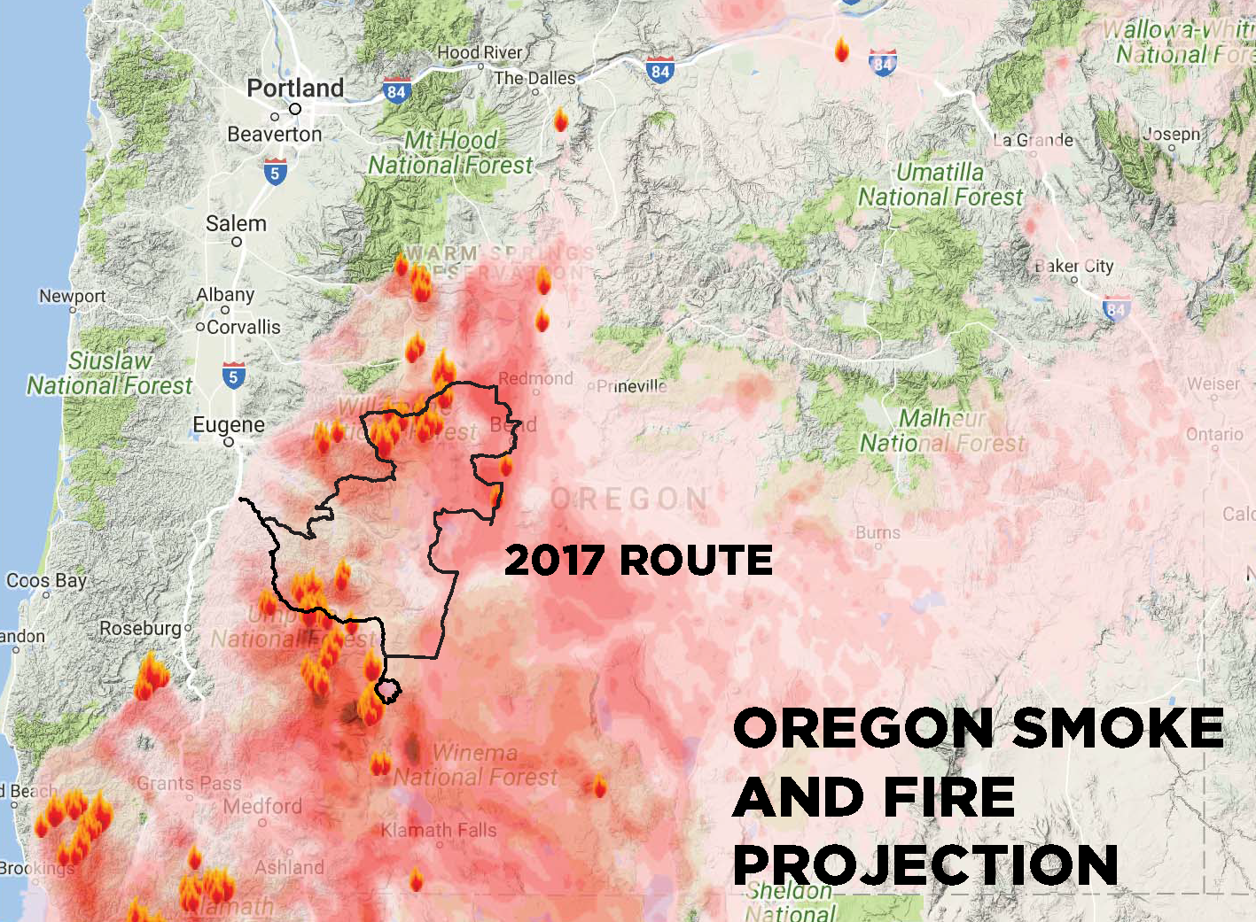 Fire Map Of Oregon 2017.2017 Classic Cancellation Information Cycle Oregon